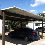 4 post flat carport